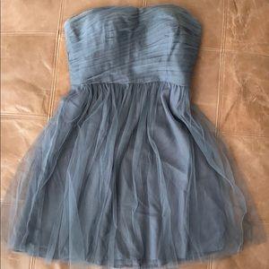 J. Crew silk chiffon sweat heart neckline dress